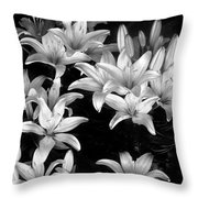 Lilies In My Garden Throw Pillow
