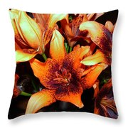 Lilies In The Shadow Throw Pillow