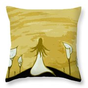 Lilies Of The Field 2 Throw Pillow