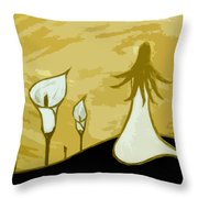Lilies Of The Field 3 Throw Pillow
