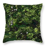 Lilies Of The Lake Throw Pillow