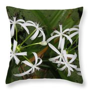 Lilies Of The Swamp Throw Pillow