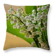 Lilies Of The Valley 1 Throw Pillow