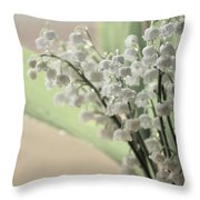 Lilies Of The Valley 2 Throw Pillow