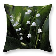 Lilies Of The Valley - Watercolor Throw Pillow