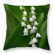 Lilies Of The Valley Throw Pillow