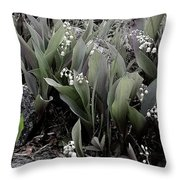 Lilies Of The Valley Mindscape No 2 Throw Pillow