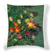 Lilies On Parade Throw Pillow