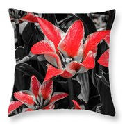 Lilies With A Splash Of Color Throw Pillow