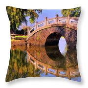 Liliuokalani Gardens Throw Pillow