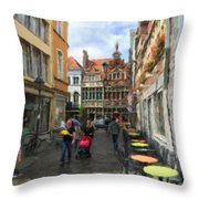 Lille Streets Series #2 Throw Pillow