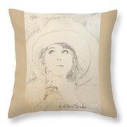 Lillian In Hat Throw Pillow