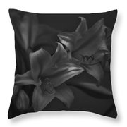 Lillies In Black And White Throw Pillow