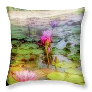 Lillie's Of Capistrano Throw Pillow by Michael Hope