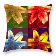 Lillies Of Four Throw Pillow
