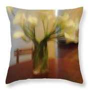 Lillies On The Table Throw Pillow