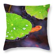 Lillies On Water Throw Pillow