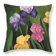 Lill's Garden Throw Pillow