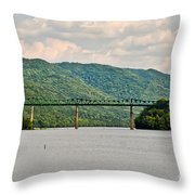 Lilly Bridge - Hinton West Virginia Throw Pillow