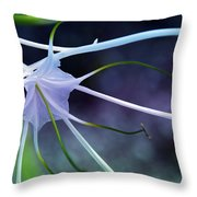 Lilly Flower Purple Throw Pillow