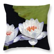 Lilly Flowers Throw Pillow