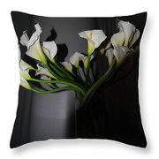 Lilly Of The Dark Throw Pillow