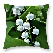 Lilly Of The Valley Flowers Throw Pillow by Jeremy Hayden