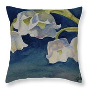 Lilly Of The Valley Throw Pillow