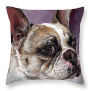 Lilly The French Bulldog Throw Pillow