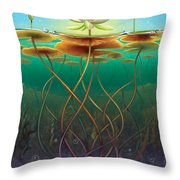 Water Lily - Transmute Throw Pillow