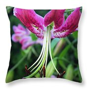 Lily At The Church Throw Pillow