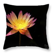 Lily Awakening Throw Pillow
