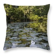 Lily Bend On Blind River Throw Pillow