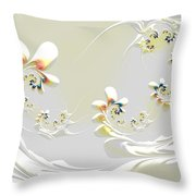Lily Chains Throw Pillow