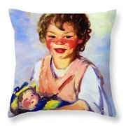 Lily Cow And The Queen 1915 Throw Pillow