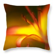 Lily Curls Throw Pillow