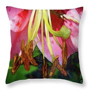 Lily Essence Throw Pillow