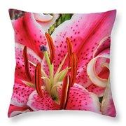 Lily Fantasy Throw Pillow