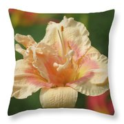 Lily Flower - Daylily Throw Pillow