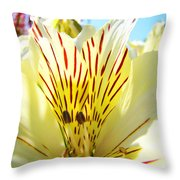 Lily Flowers Art Prints Yellow Lillies 2 Giclee Prints Baslee Troutman Throw Pillow