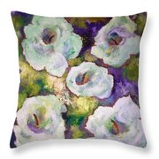 Lily Garden With Shadows And Light Throw Pillow