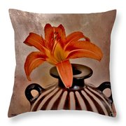 Lily In A Peruvian Vase Throw Pillow