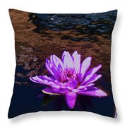 Lily In Pond Throw Pillow