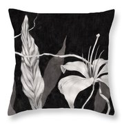 Lily In The Night Throw Pillow