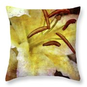 Lily In The Rain 1799 Idp_2 Throw Pillow