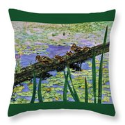 Lily Marsh Family Throw Pillow