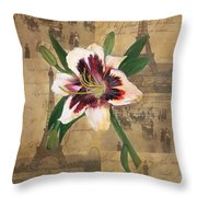 Lily Of France Throw Pillow