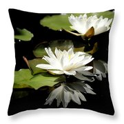 Lily Of The Lake Watercolor Throw Pillow