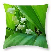 Lily Of The Valley Throw Pillow by Jeremy Hayden