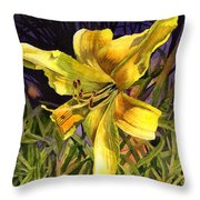 Lily On Display Throw Pillow